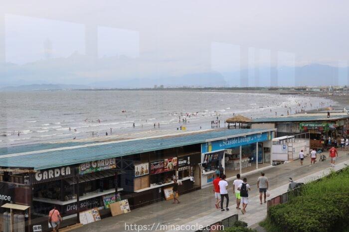 新江ノ島水族館から見た海