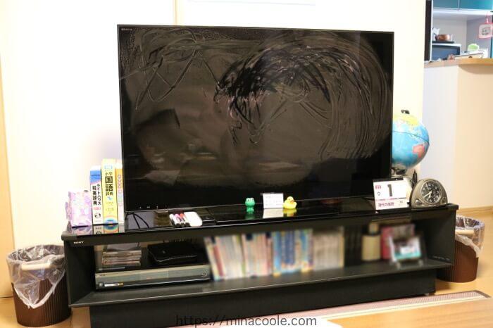 テレビを水拭き
