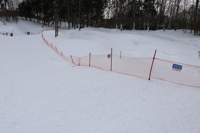 ハンターマウンテン塩原スキー場チュービングコースの様子