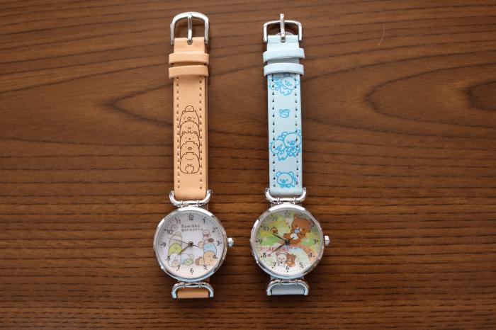 「リラックマ」と「すみっコぐらし」の腕時計