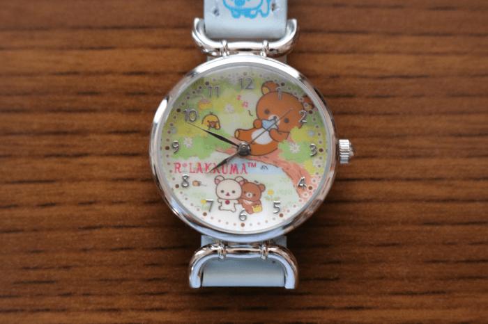 子供(みなちゃん)にプレゼントした「リラックマ」の腕時計