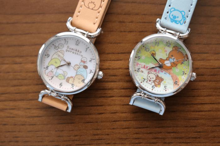 「リラックマ」と「すみっコぐらし」の腕時計で「時刻と時間の計算」を学習
