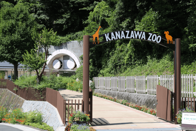 金沢動物園の入口