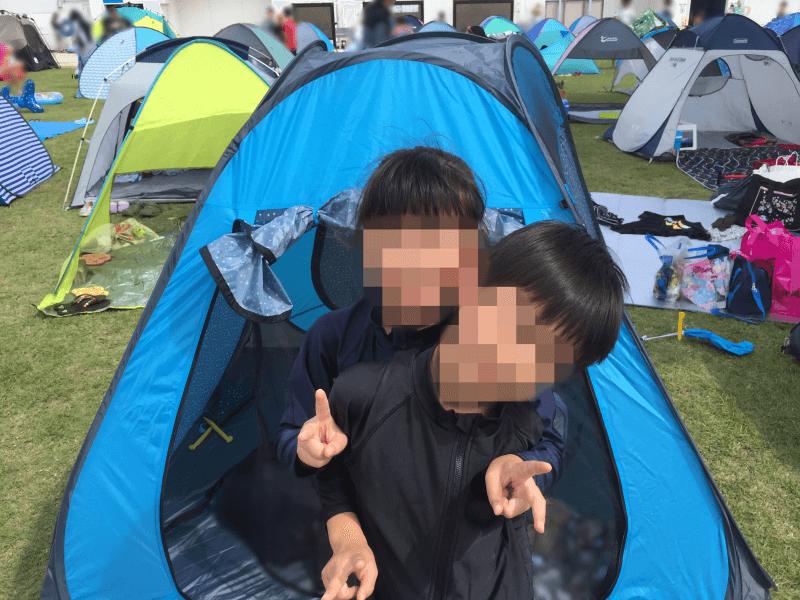 ドーム型テント(出入口ファスナー付き)