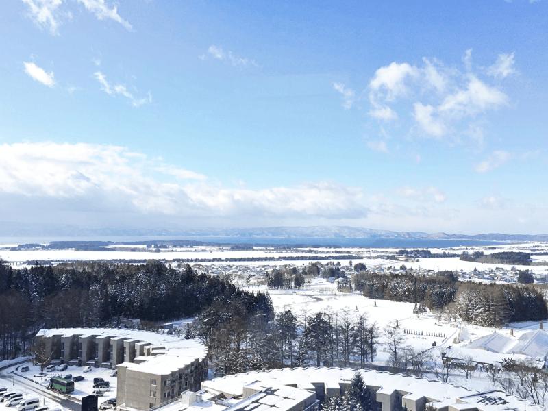 ホテルリステル猪苗代ウイングタワーの眺望(猪苗代湖側)