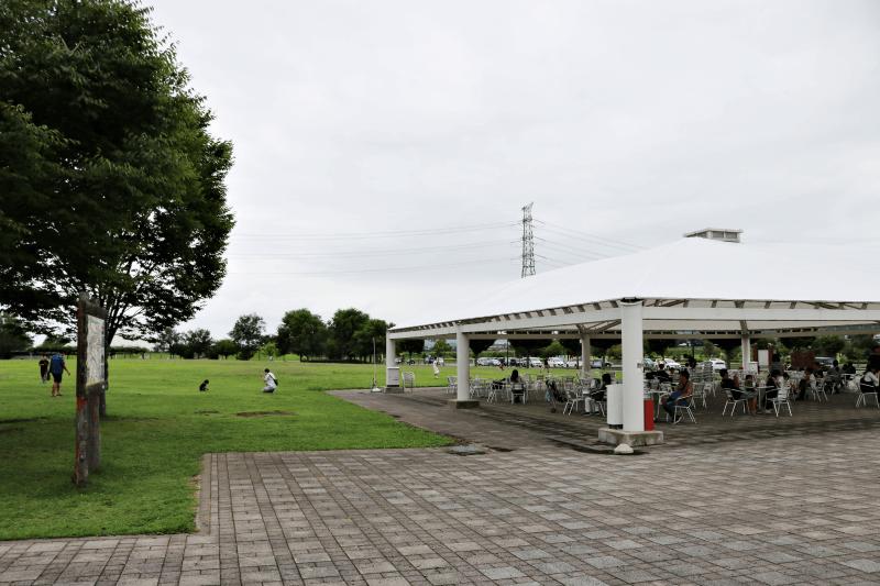 なかがわ水遊園の広場
