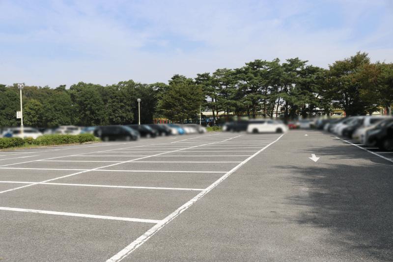 むさしの村の駐車場