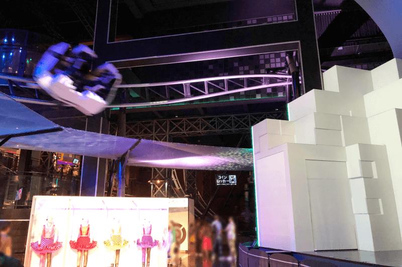 東京ジョイポリスのアトラクション:撃音 ライブ コースター