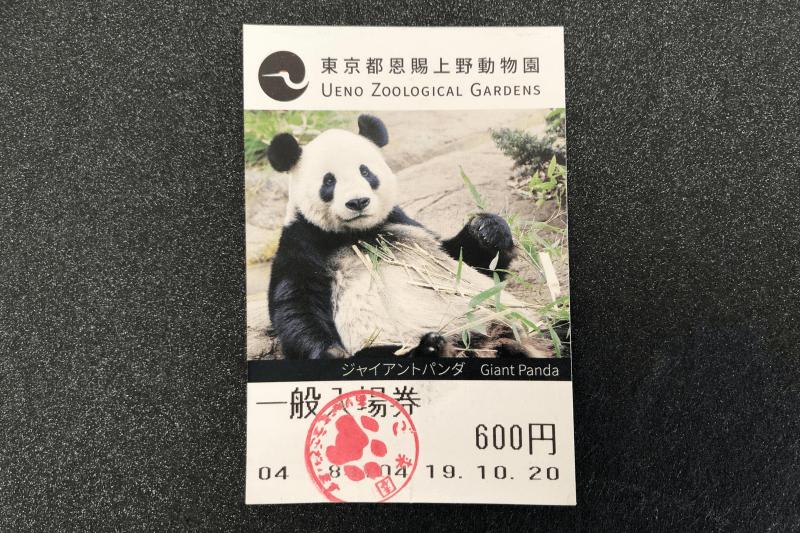 東京都恩賜上野動物園の一般入場券