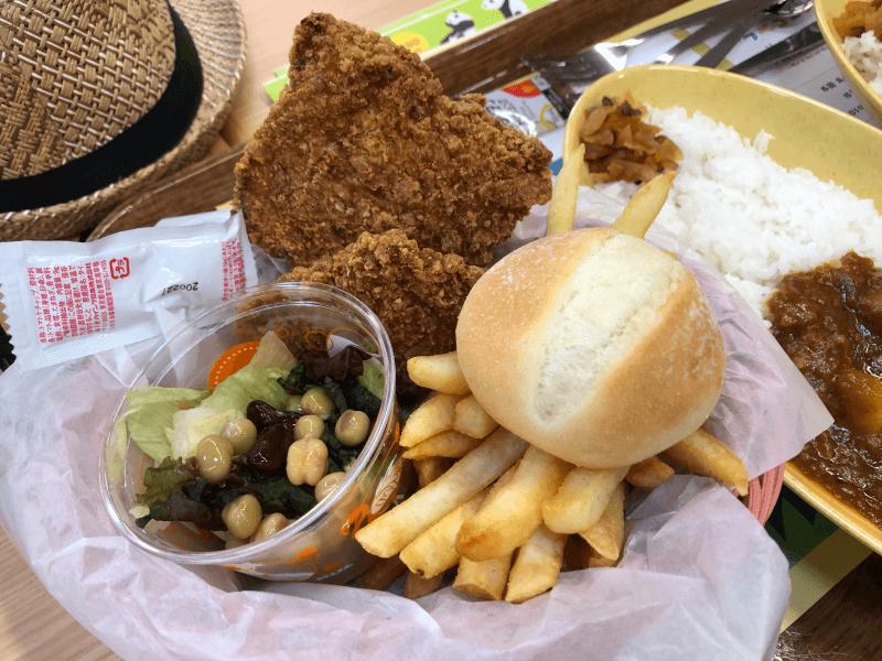 上野動物園 西園食堂のチキンバスケット