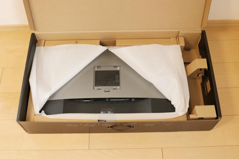 Dell デジタルハイエンドシリーズ U2720Q 27インチ4K HDR USB-C モニタ-:ケースの開封と組み立て-10