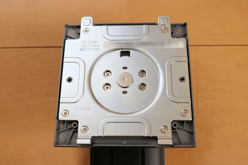 Dell デジタルハイエンドシリーズ U2720Q 27インチ4K HDR USB-C モニタ-:スタンドライザー モニター取り付け部分