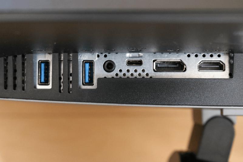 Dell デジタルハイエンドシリーズ U2720Q 27インチ4K HDR USB-C モニタ-:ポートとスロット 左側6種