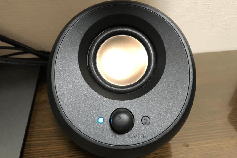 Creative Pebble V3(クリエイティブ ペブル ブイ3)PCスピーカーの右側スピーカー