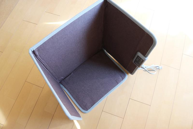 Miriyon遠赤外線デスクヒーター踏み型のデメリット:かかと、足首、ふくらはぎ、腰回り、が暖まらない